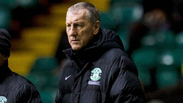Hibs boss Terry Butcher