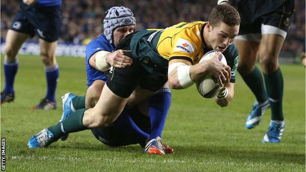 George North scores for Northampton