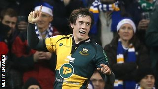Jamie Elliott celebrates his dramatic late try
