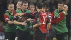 Tempers fray at Seaview in the top-of the-table clash between Crusaders and Glentoran