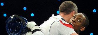 Lutalo Muhammad celebrates winning World Grand Prix