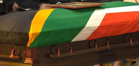 Nelson Mandela's coffin