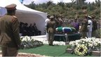 Coffin of Nelson Mandela in Qunu (15 Dec 2013)