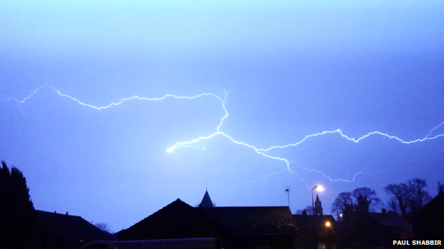 Lightning over Bo'ness