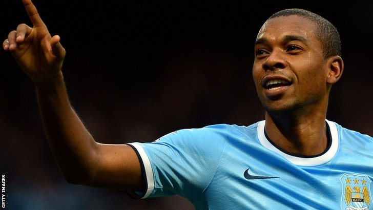Fernandinho celebrates scoring