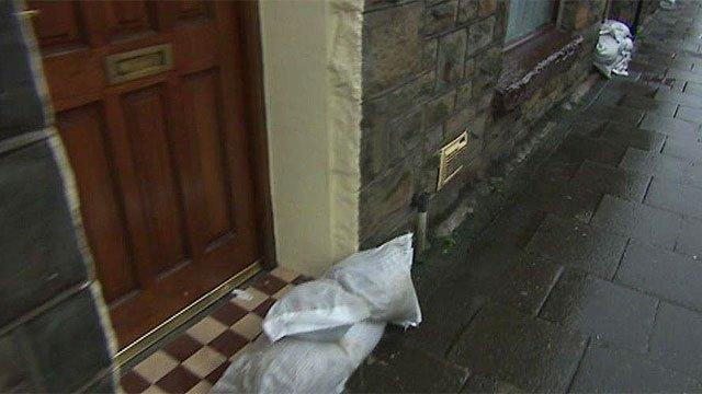 Flooding in Rhondda