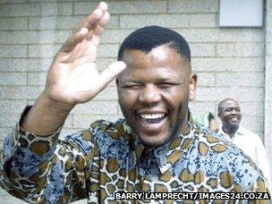 Nelson Mandela lookalike Ayanda Mbatyothi