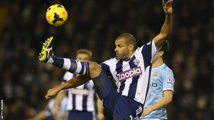 Steven Reid in action for West Brom