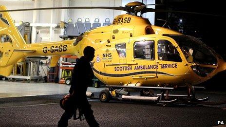 Scottish Air Ambulance EC 135 helicopter