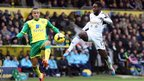 Nathan Dyer gives Swansea City the lead against Norwich City in Sunday's Premier League clash at Carrow Road.