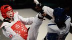 Olympic champion Jade Jones had to settle for silver at the Taekwondo World Grand Prix in Manchester, losing to Spain's Eva Calvo in the -57kg final.