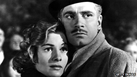 Joan Fontaine and Laurence Olivier in Rebecca