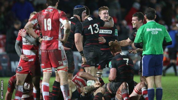 Edinburgh won 16-10 at Gloucester