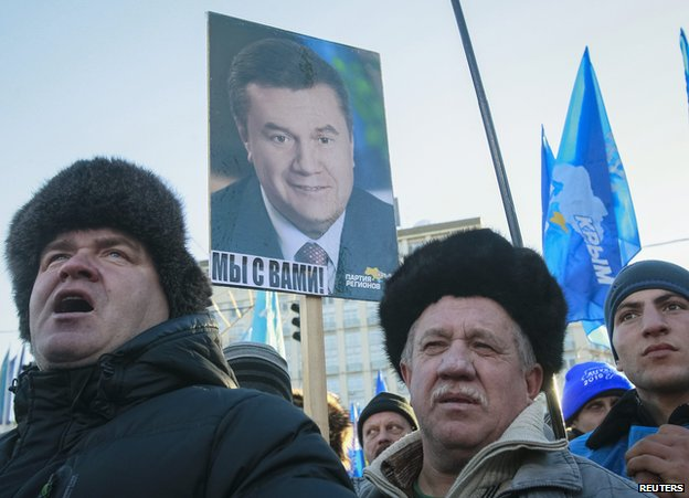 Pro-Yanukovych demonstration in Kiev, 15 Dec 13
