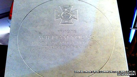 Commemorative paving slab