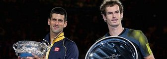 Novak Djokovic (left) Andy Murray