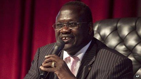 Former South Sudan Vice-President Riek Machar (file image)