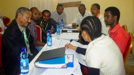 People attending an Entrepreneurship Development Programme session