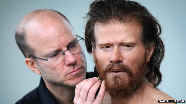 Reconstructed face of a 5,500 year-old man buried in a long barrow 1.5 miles from Stonehenge