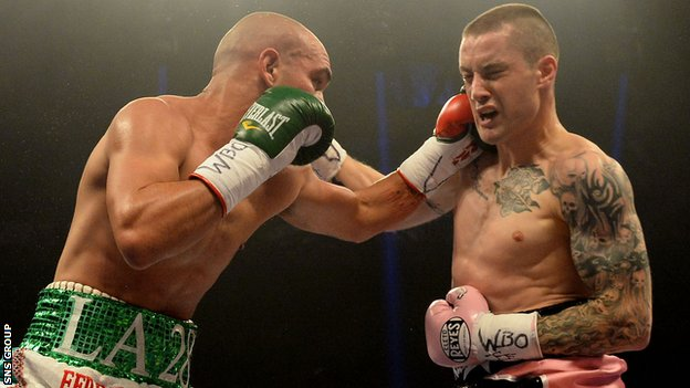 Ricky Burns (right) broke his jaw in September