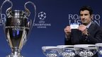 Luis Figo at Champions League draw