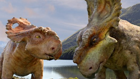 Film still from Walking with Dinosaurs