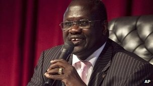 t Former South Sudan Vice-President Riek Machar (file image)
