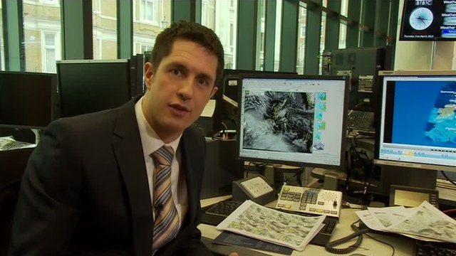 Weather presenter Chris Fawkes guides you through the process of forecasting the weather.