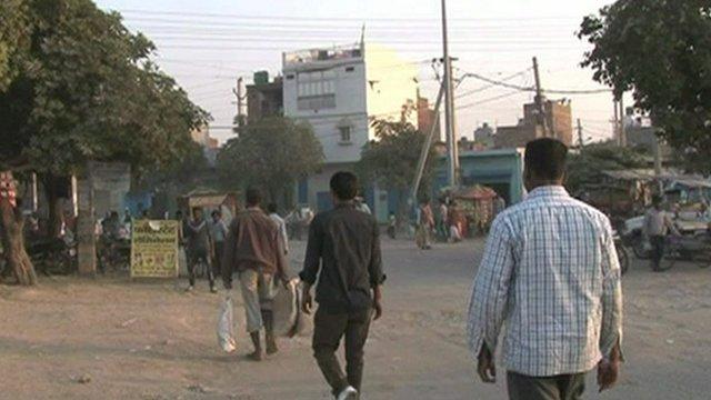 Men on the street in Delhi