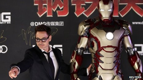 Robert Downey Jr in China to promote Iron Man 3 earlier this year