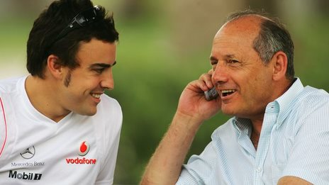 Fernando Alonso and Ron Dennis