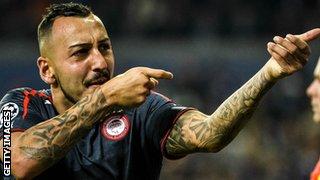 Olympiakos striker Konstantinos Mitroglou