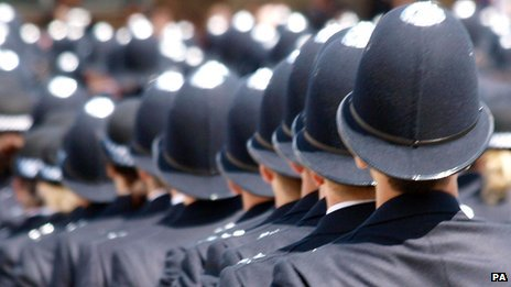 Police graduates at their passing out ceremony