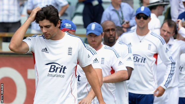 England captain Alastair Cook and his team