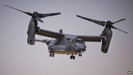 US Bell Boeing V-22 Osprey, 17 June 2013