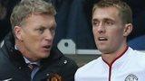 Manchester United manager David Moyes and midfielder Darren Fletcher