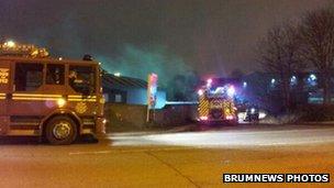 Smethwick Scrapyard Fire