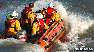 RNLI dinghy