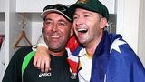 Australia coach Darren Lehmann (left) and captain Michael Clarke