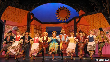 Cast members of Jack and the Beanstalk at the Nottingham Playhouse
