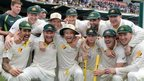 Autralia celebrate winning the Ashes