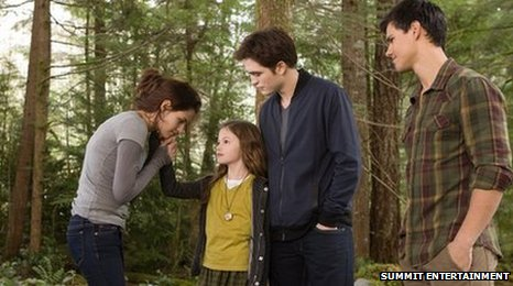 Bella, Edward, Jacob and Renesmee