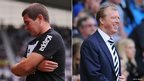 Nigel Clough and Steve McClaren.