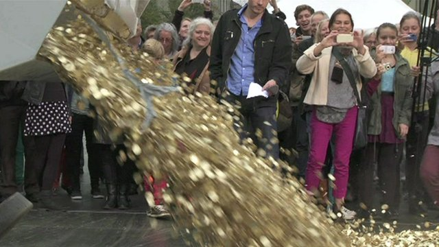coins being dumped
