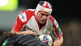 Rory Best in action for Ulster against Leicester in this season's Heineken Cup
