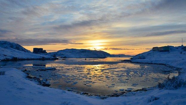 Sunset at Narsaq Harbour