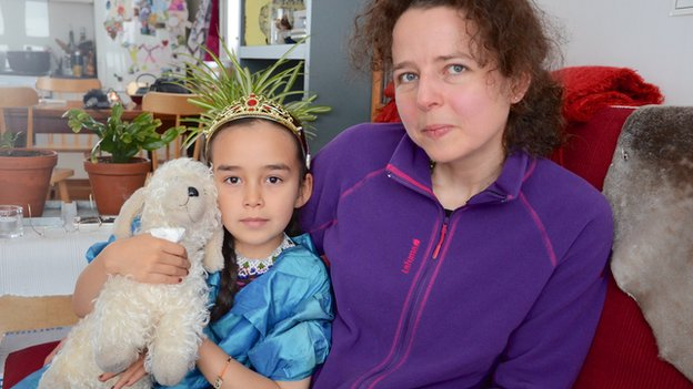 Agathe Devisme and her daughter Ina
