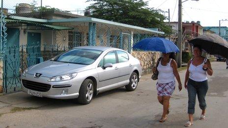 Michel Enriquez's house and car on La Isla de la Juventud