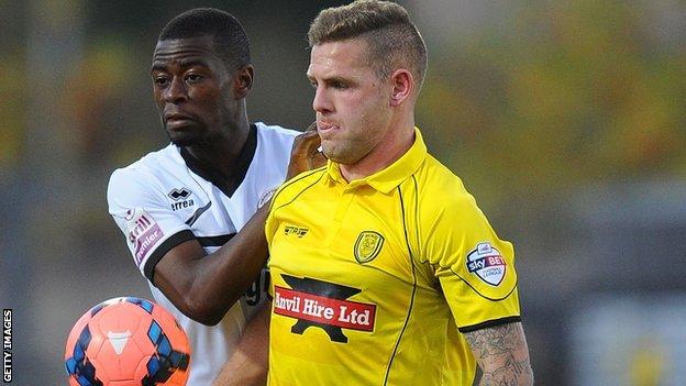Burton Albion striker Billy Kee