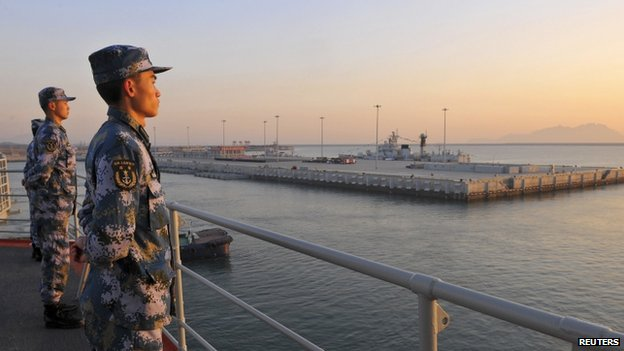 File photo: Chinese naval soldiers on board China's aircraft carrier Liaoning, 30 November 2013